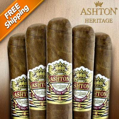 Ashton Heritage Puro Sol Corona Gorda Pack of 5 Cigars-www.cigarplace.biz-31