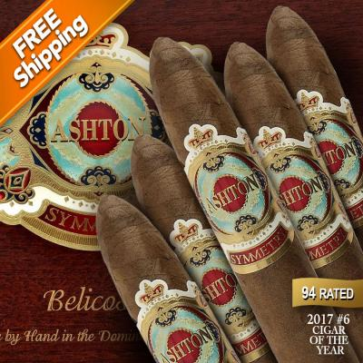 Ashton Symmetry Belicoso Pack of 5 Cigars 2017 #6 Cigar of the Year-www.cigarplace.biz-31
