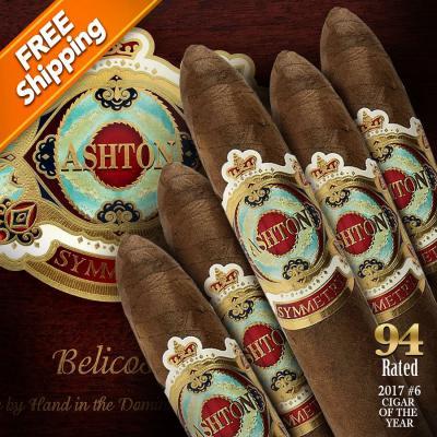 Ashton Symmetry Belicoso Pack of 5 Cigars 2017 #6 Cigar of the Year-www.cigarplace.biz-32
