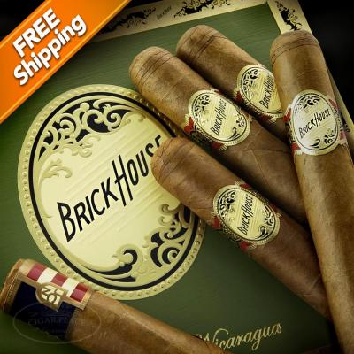 Brick House Double Connecticut Mighty Mighty Pack of 5 Cigars-www.cigarplace.biz-32