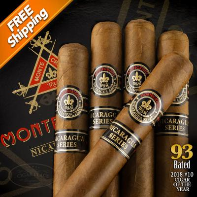 Montecristo Nicaragua Series Robusto Pack of 5 Cigars 2018 #10 Cigar of the Year-www.cigarplace.biz-32