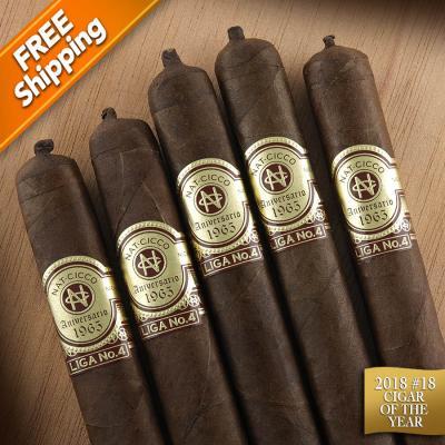 Nat Cicco Aniversario 1965 Liga No. 4 Churchill Pack of 5 Cigars 2018 #18 Cigar of the Year-www.cigarplace.biz-31