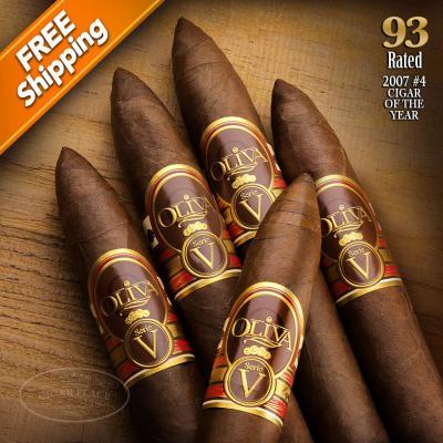 Oliva Serie V Torpedo Pack of 5 Cigars 2007 #4 Cigar of the Year-www.cigarplace.biz-31