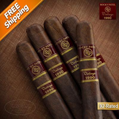 Rocky Patel Vintage 1990 Robusto Pack of 5 Cigars-www.cigarplace.biz-31