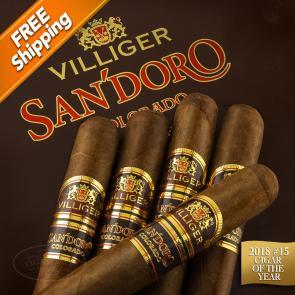 Villiger SanDoro Colorado Churchill Pack of 5 Cigars 2018 #15 Cigar of the Year-www.cigarplace.biz-21