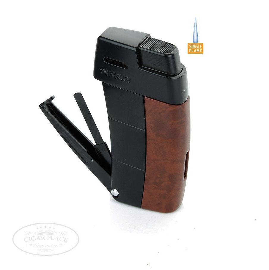 Xikar Resource pipe Lighter Burl W//Black Trim